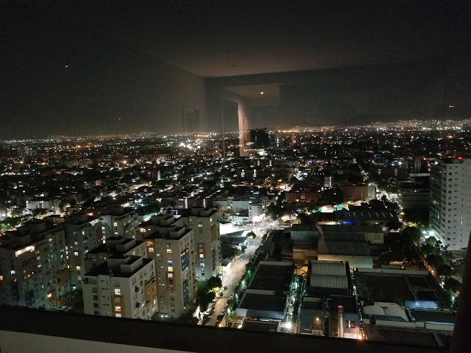Hotel view of Mexico City
