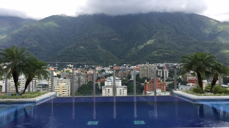 City view of Caracas, Venezuela from the Pestana Hotel