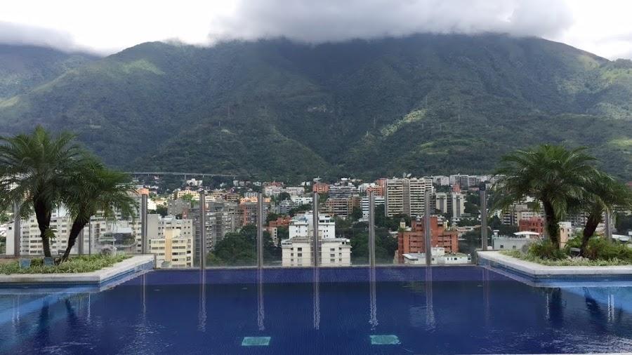 City view of Caracas, Venezuela from the Pestana Hotel